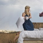 Pillow Fight Engagement Shoot by Kallah Ohr