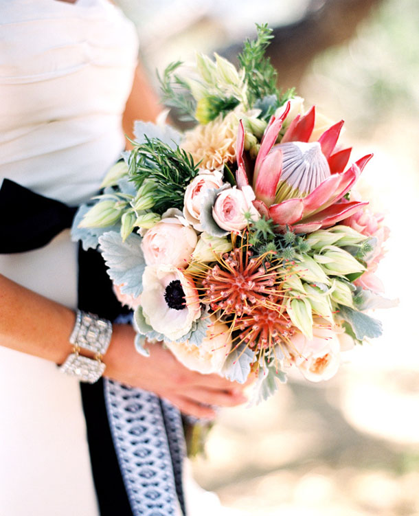 003 20 Protea Wedding Bouquets Southbound Bride