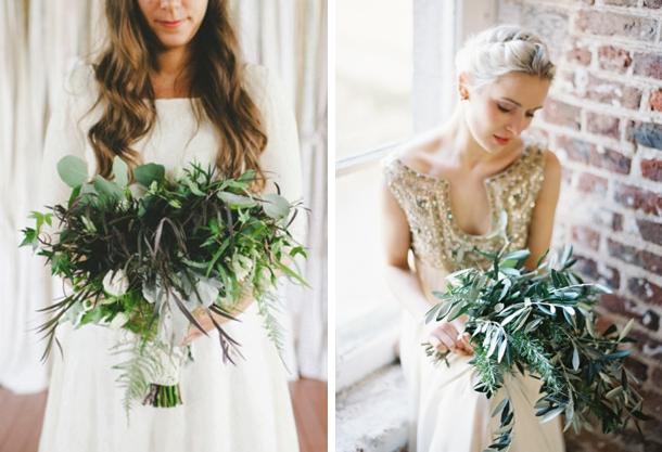 005 Green Foliage Wedding Bouquets