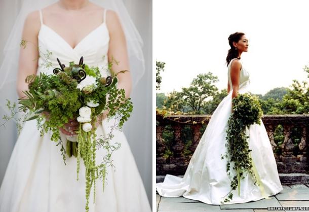 006 Green Foliage Wedding Bouquets