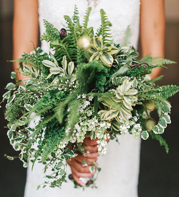 Not Just For Brides Greenery Bouquets Are A Great Option Bridesmaids Too