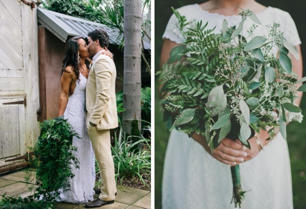 010 Green Foliage Wedding Bouquets