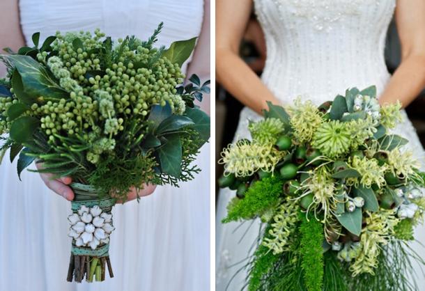 012 Green Foliage Wedding Bouquets