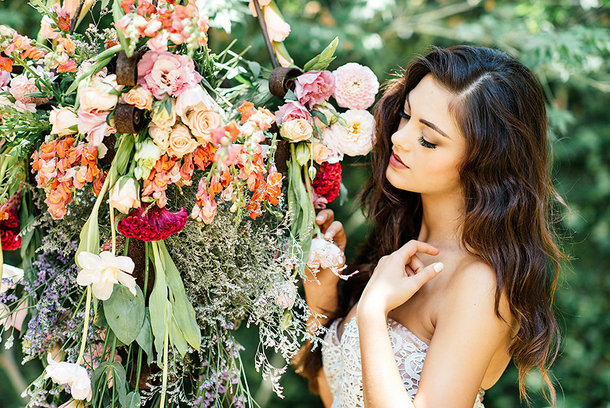 Floral Chandelier | Credit: Leandri Kers | Featuring Miss Universe 2017 Demi-Leigh Nel-Peters