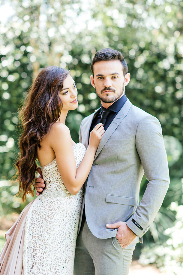 Glamorous Bride and Groom Portrait | Credit: Leandri Kers | Featuring Miss Universe 2017 Demi-Leigh Nel-Peters
