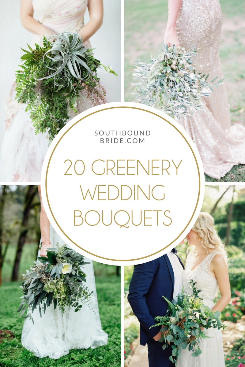 20 Greenery Wedding Bouquets | SouthBound Bride