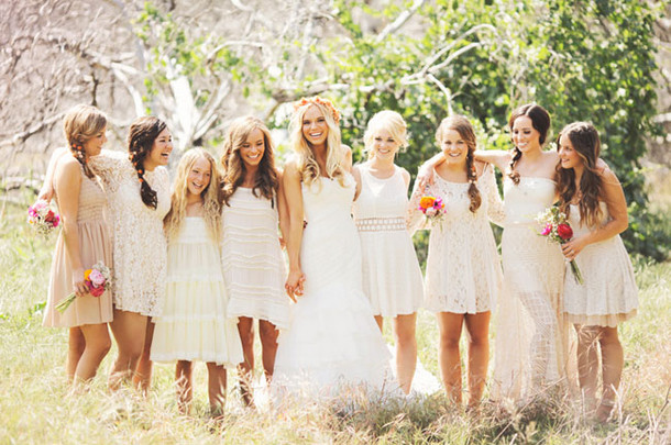 Casual Boho Bridesmaid Dresses