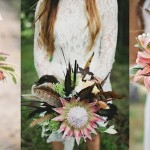 20 Wedding Bouquets with Feather Details