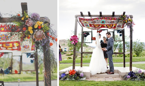How to Style a Boho Wedding Ceremony | SouthBound Bride