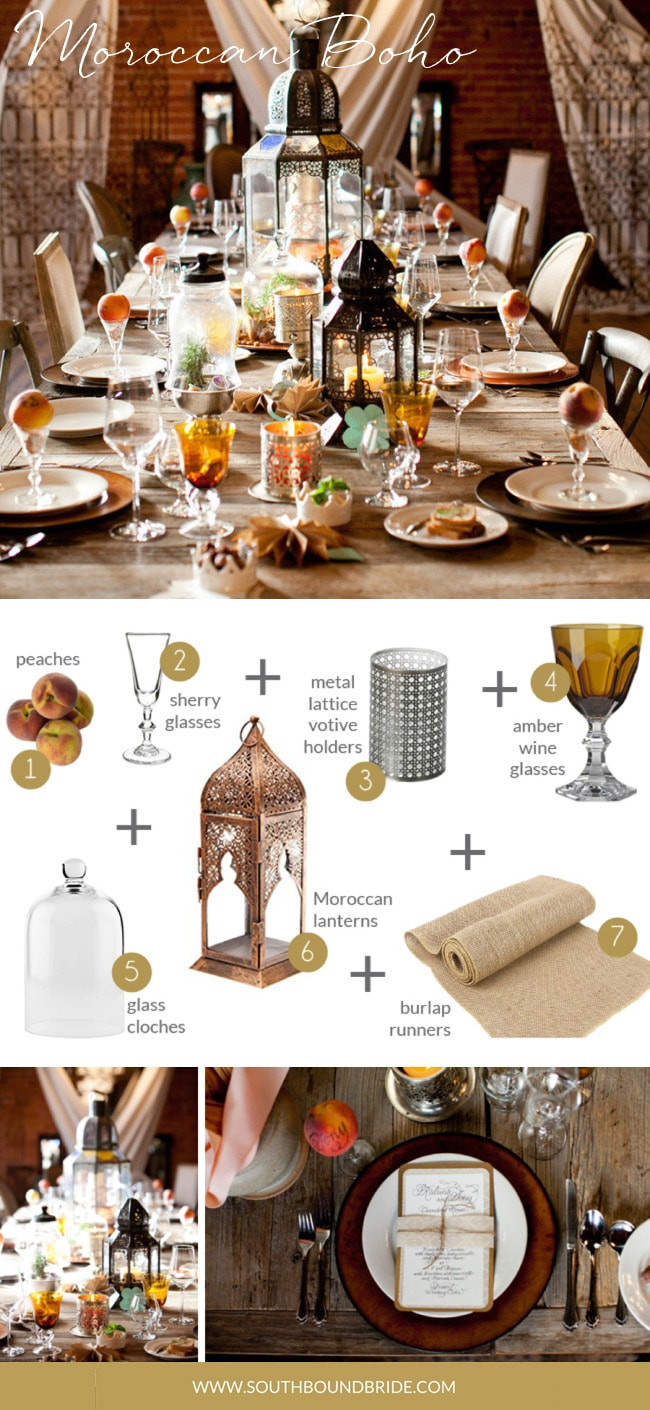 Moroccan Boho | How to Style a Boho Wedding Tablescape | Credit: Picotte Weddings