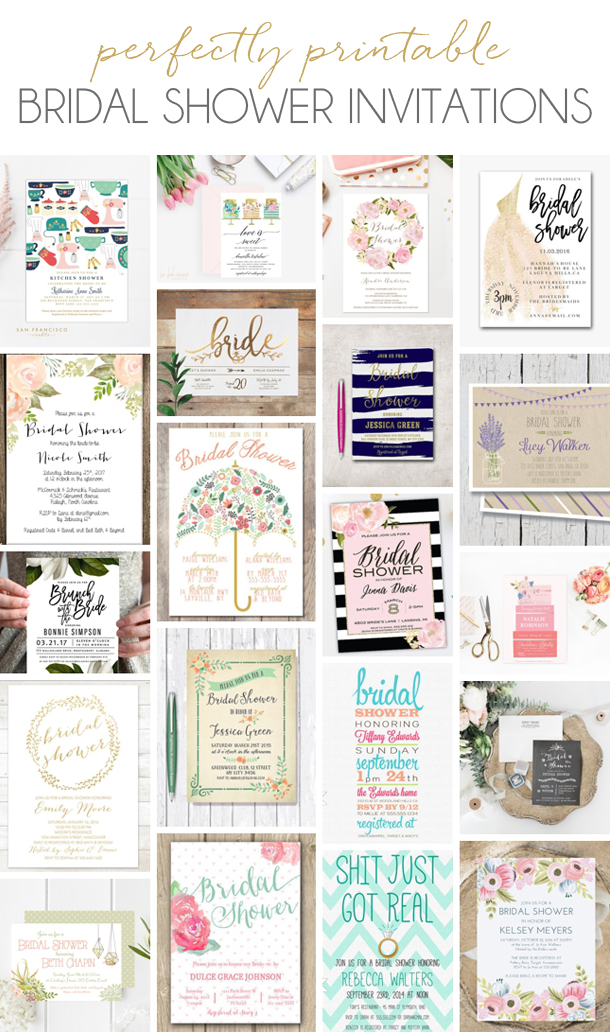 Printable Bridal Shower Invitations from Etsy | SouthBound Bride