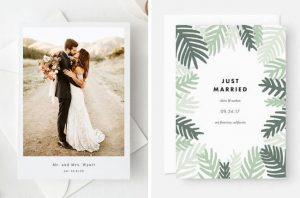 Elopement Wedding Announcements