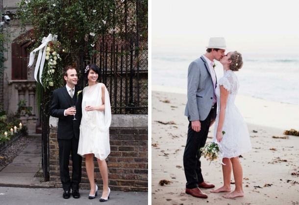 Short Elopement Wedding Dresses