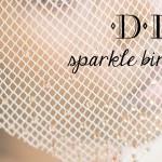 DIY Sparkle Birdcage Veil