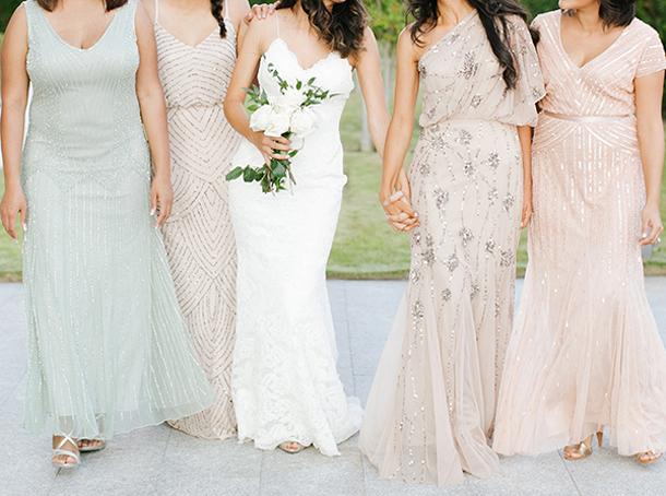 Embellished Bridesmaid Dresses