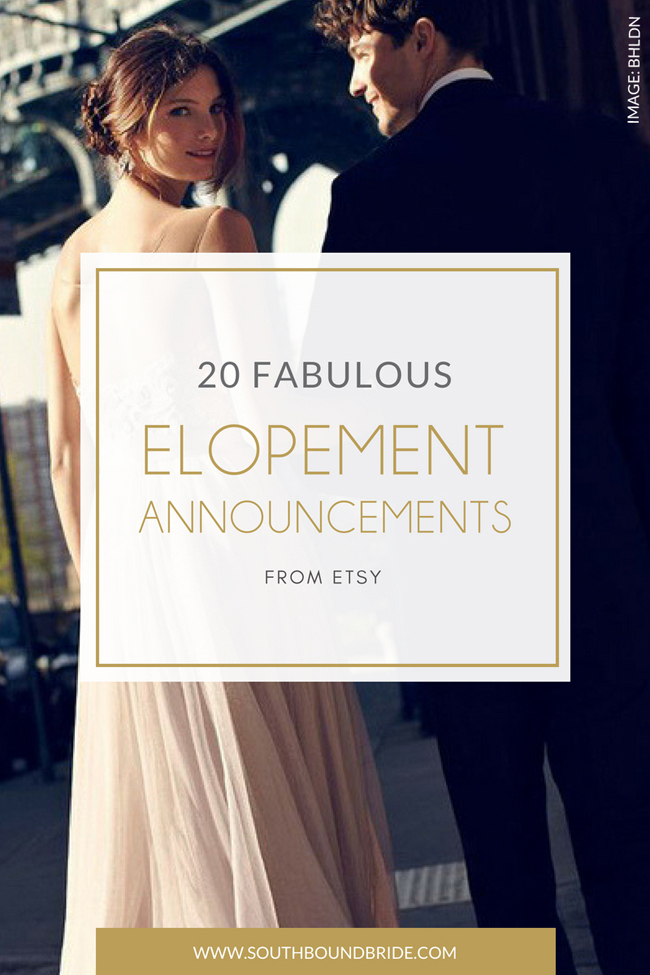 Elopement Announcements | SouthBound Bride