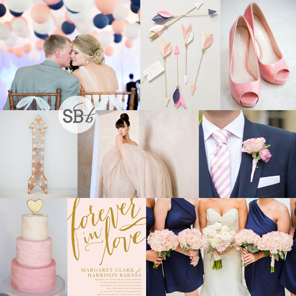 Navy Pink Wedding Inspiration Board Southbound Bride