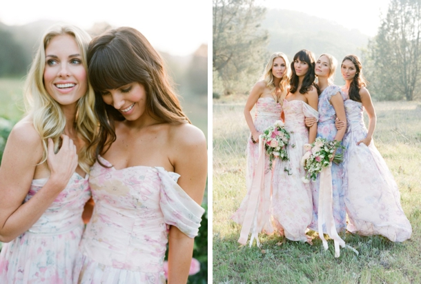 Pastel Floral Print Bridesmaid Dresses by PPS Couture - SouthBound ...