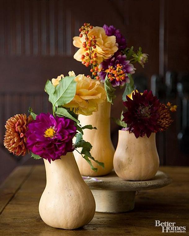 Butternut Vases   Fall Wedding Ideas   SouthBound Bride