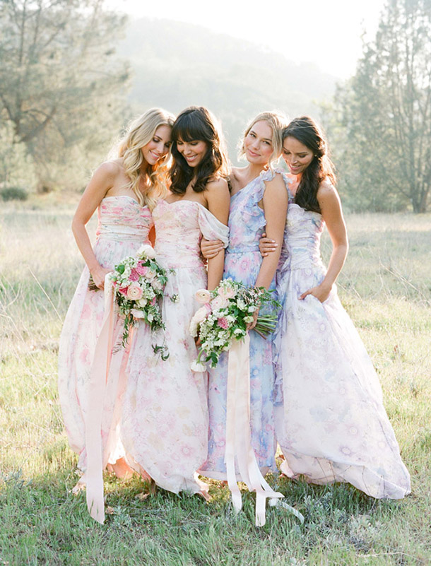 floral-print-pastel-bridesmaid-dresses (3)