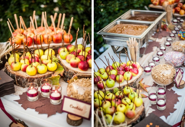 Toffee Apple Station   Fall Wedding Ideas   SouthBound Bride
