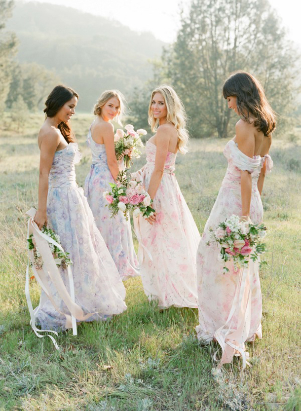 floral-print-pastel-bridesmaid-dresses (6)