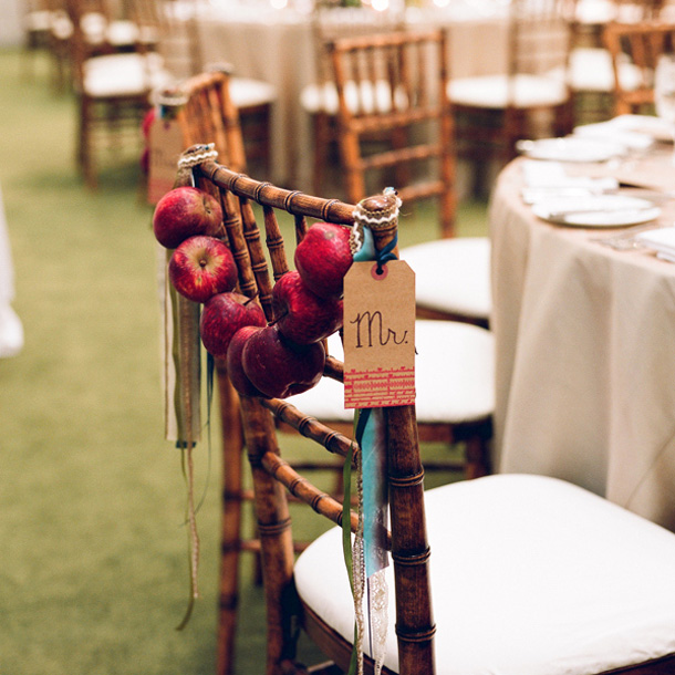 Apple Chair Swag   Fall Wedding Ideas   SouthBound Bride