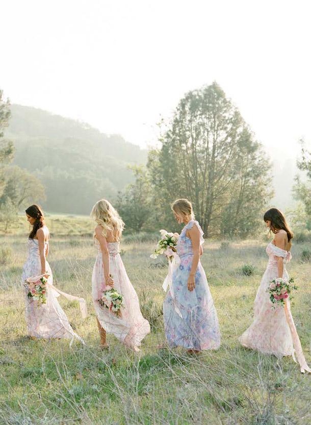 floral-print-pastel-bridesmaid-dresses (8)