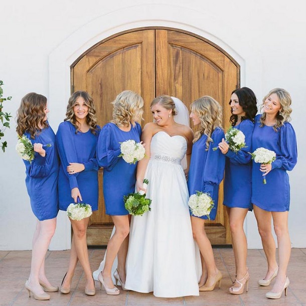 3/4 Sleeve Bridesmaid Dresses