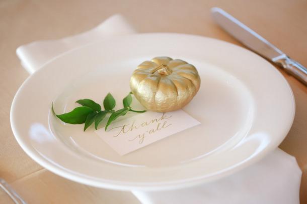 Mini Gold Pumpkins   Fall Wedding Ideas   SouthBound Bride