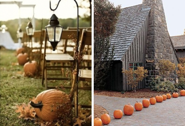 Pumpkin Runners | Fall Wedding Ideas | SouthBound Bride