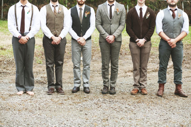 Tweed Suits For Grooms Groomsmen