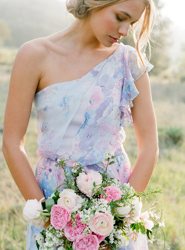 Fl Print Pastel Bridesmaid Dresses 10