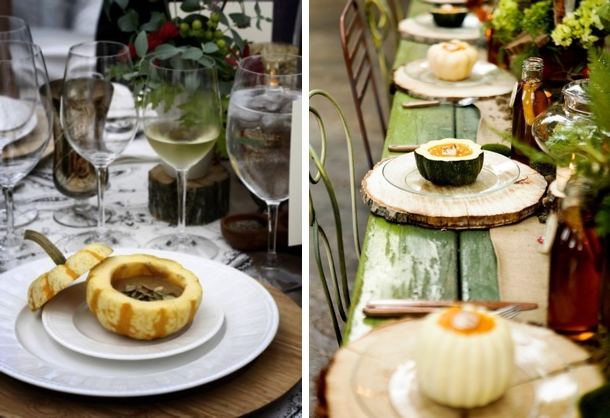 Soup in Gourds   Fall Wedding Ideas   SouthBound Bride