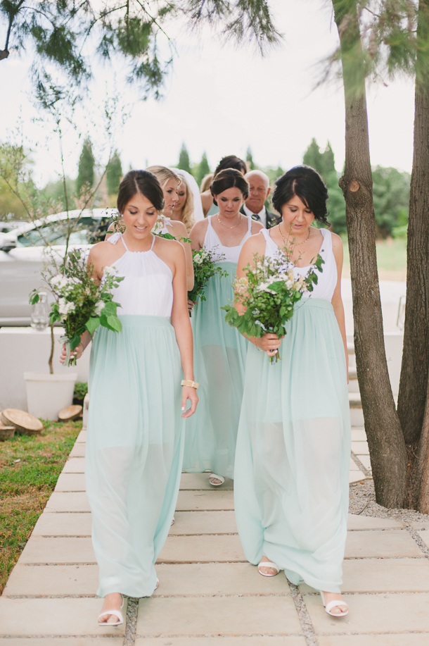 From Steph Dylan S Mint Gold Wedding Bridesmaids Dresses Yde Photography Piteria See More Two Tone Bridesmaid