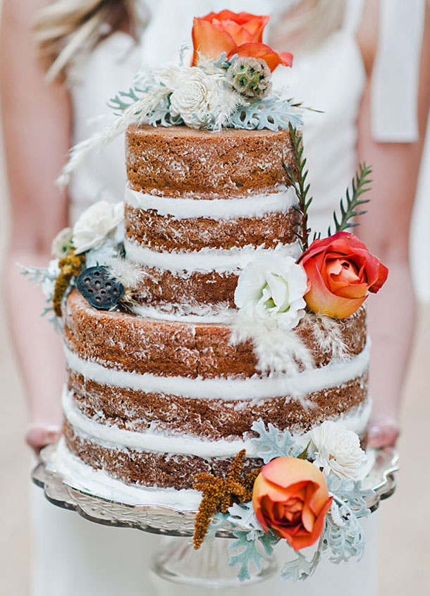 20 Naked Cakes for a Fall Wedding | SouthBound Bride