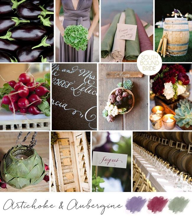 Inspiration Board: Artichoke & Aubergine | SouthBound Bride