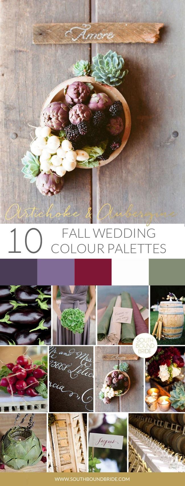 Artichoke & Aubergine Fall Wedding Palette | SouthBound Bride