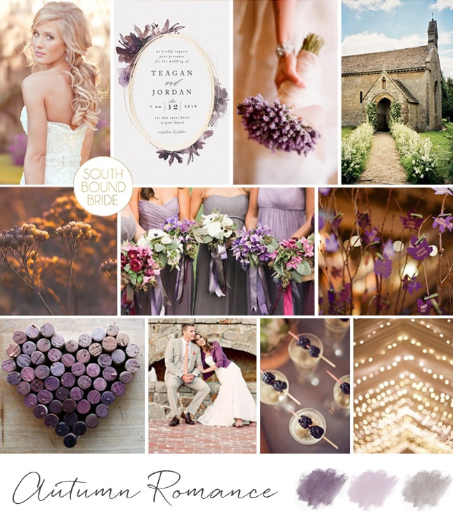 Inspiration Board: An Autumn Romance | SouthBound Bride
