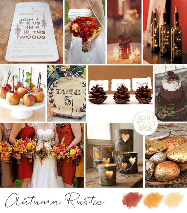 Autumn Rustic Inspiration Board | SouthBound Bride