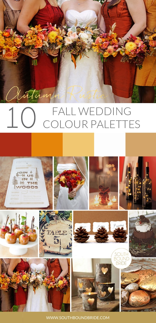 10 Fall Color Palettes | SouthBound Bride