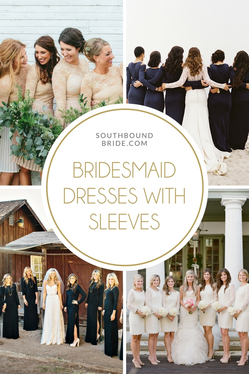 Bridesmaid Dresses with Long Sleeves | SouthBound Bride