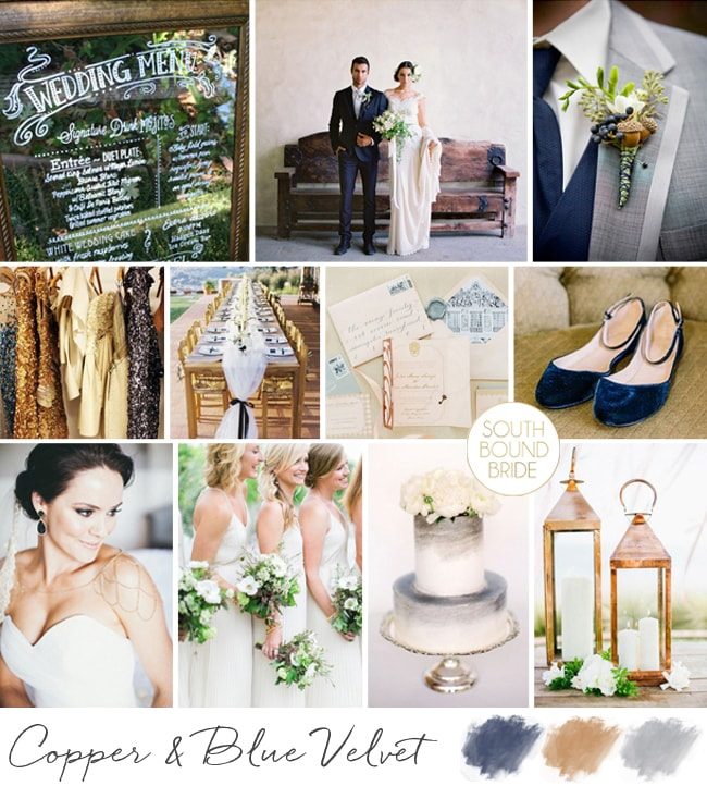 Navy, Copper & Grey Wedding Inspiration | SouthBound Bride