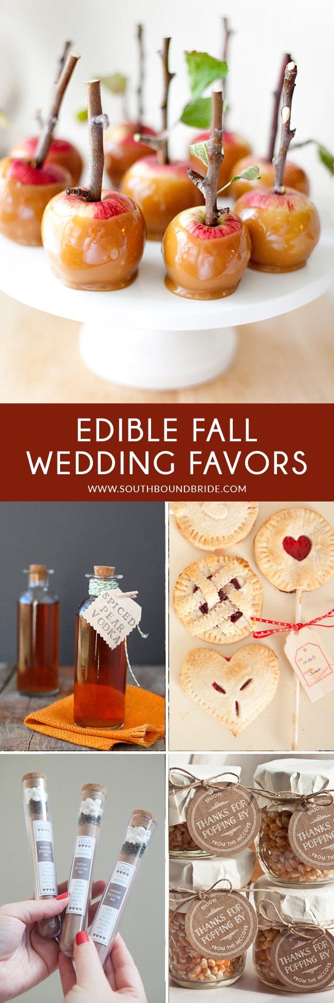 DIY Edible Fall Wedding Favors | SouthBound Bride