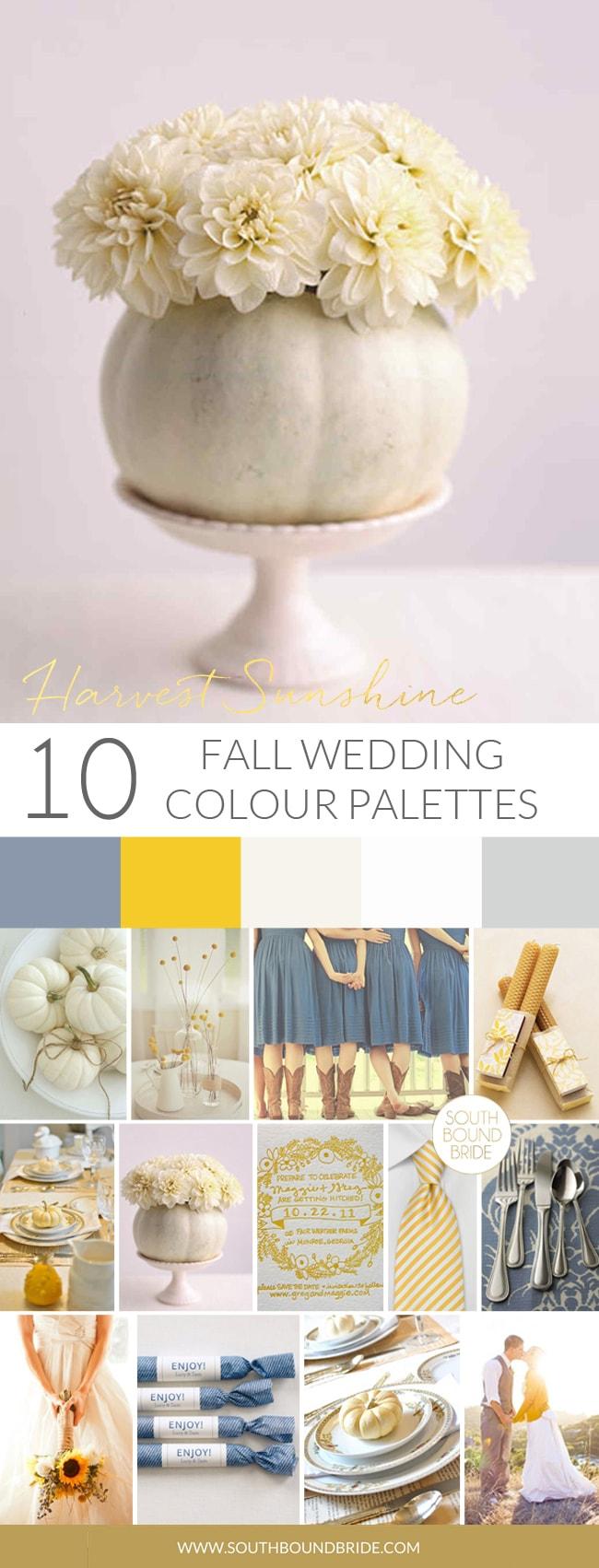 Harvest Sunshine Fall Wedding Palette | SouthBound Bride