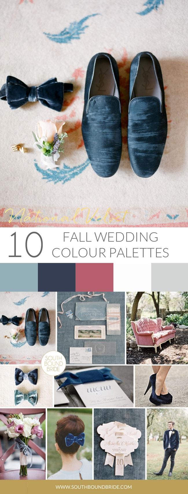 National Velvet Fall Wedding Palette | SouthBound Bride