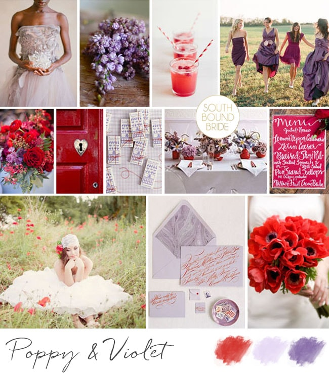 Inspiration Board: Poppy & Violet | SouthBound Bride