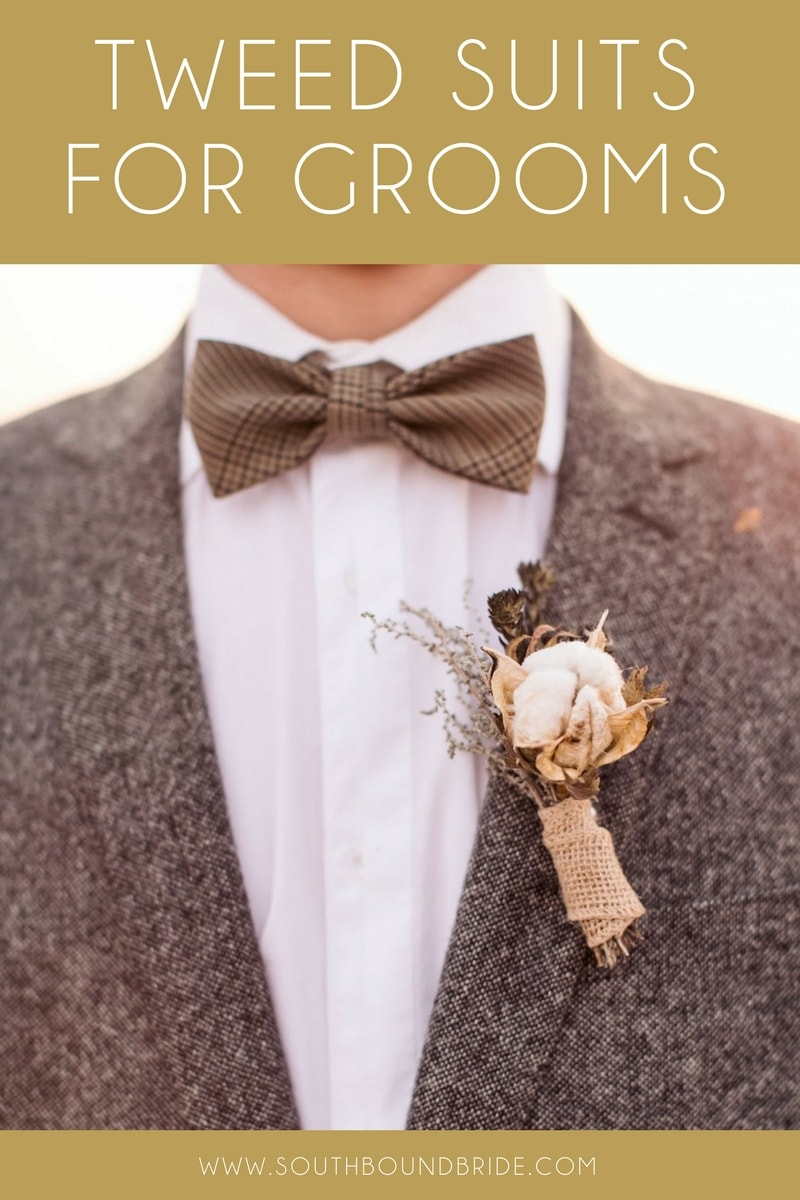 Tweed Suits for Grooms & Groomsmen | SouthBound Bride