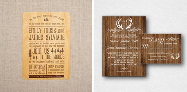 20 Wood Wedding Invitations SouthBound Bride