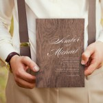 20 Wooden & Wood Effect Wedding Invitations
